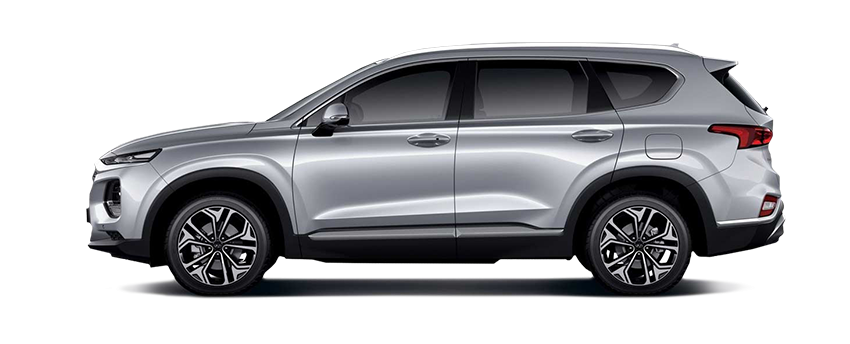 New Hyundai Santa Fe 2019 Silver Studio Side3